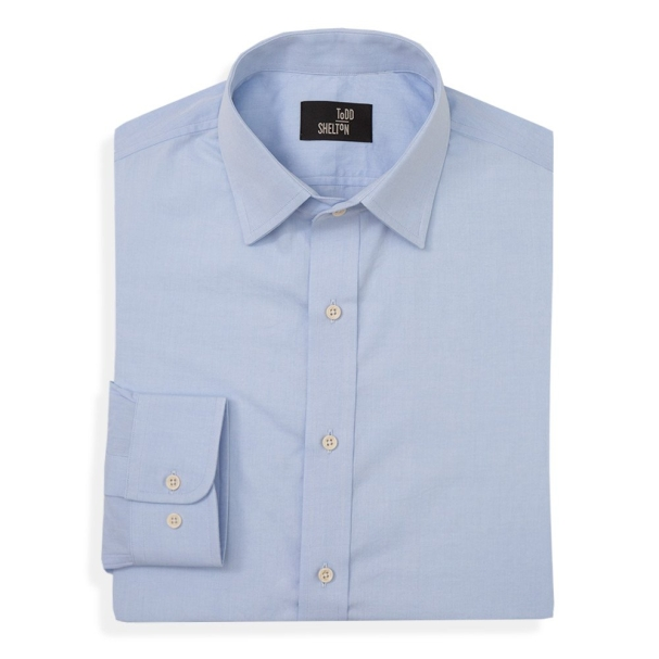 Light Blue Poplin Point Shirt