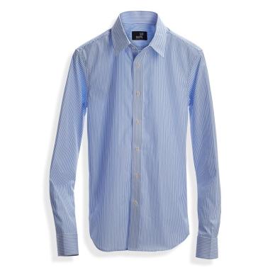 Poplin Shirt Blue Stripe