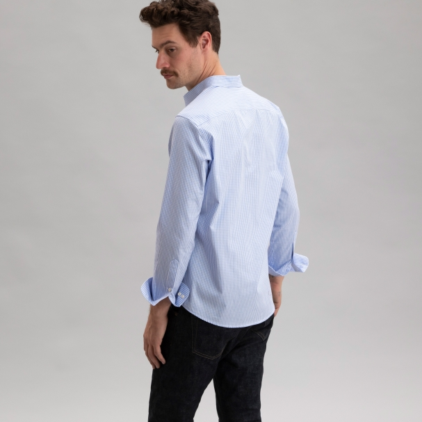 Standard Poplin Light Blue Gingham