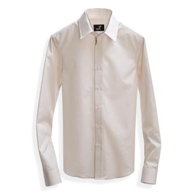 Poplin Shirt Tan Microstripe