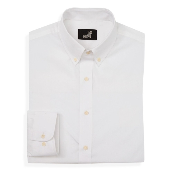 Poplin White Shirt Front View
