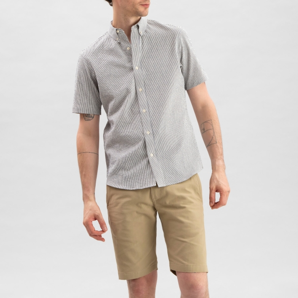 Seersucker Shirt Vintage Stripe