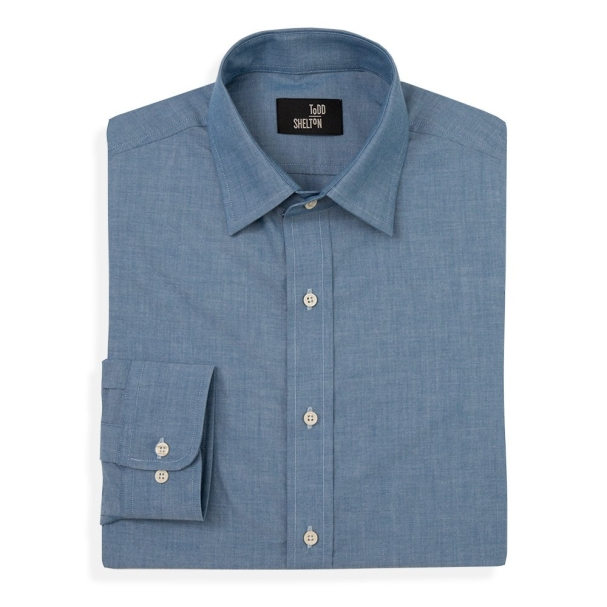 Todd Shelton All Seasons Chambray Point Collar