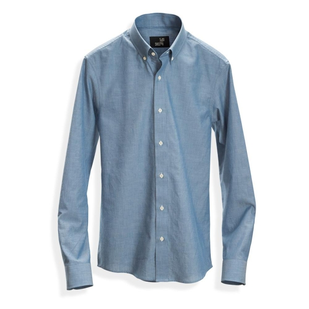 Chambray Shirt Western Blue - Button Down