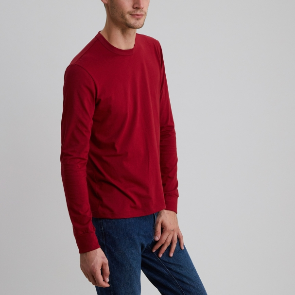 Long Sleeve Crew Burgundy
