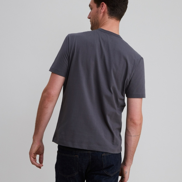 Short Sleeve Crew Charcoal