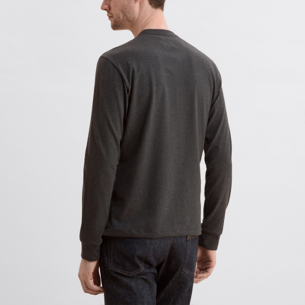 Long Sleeve Crew Heather Charcoal