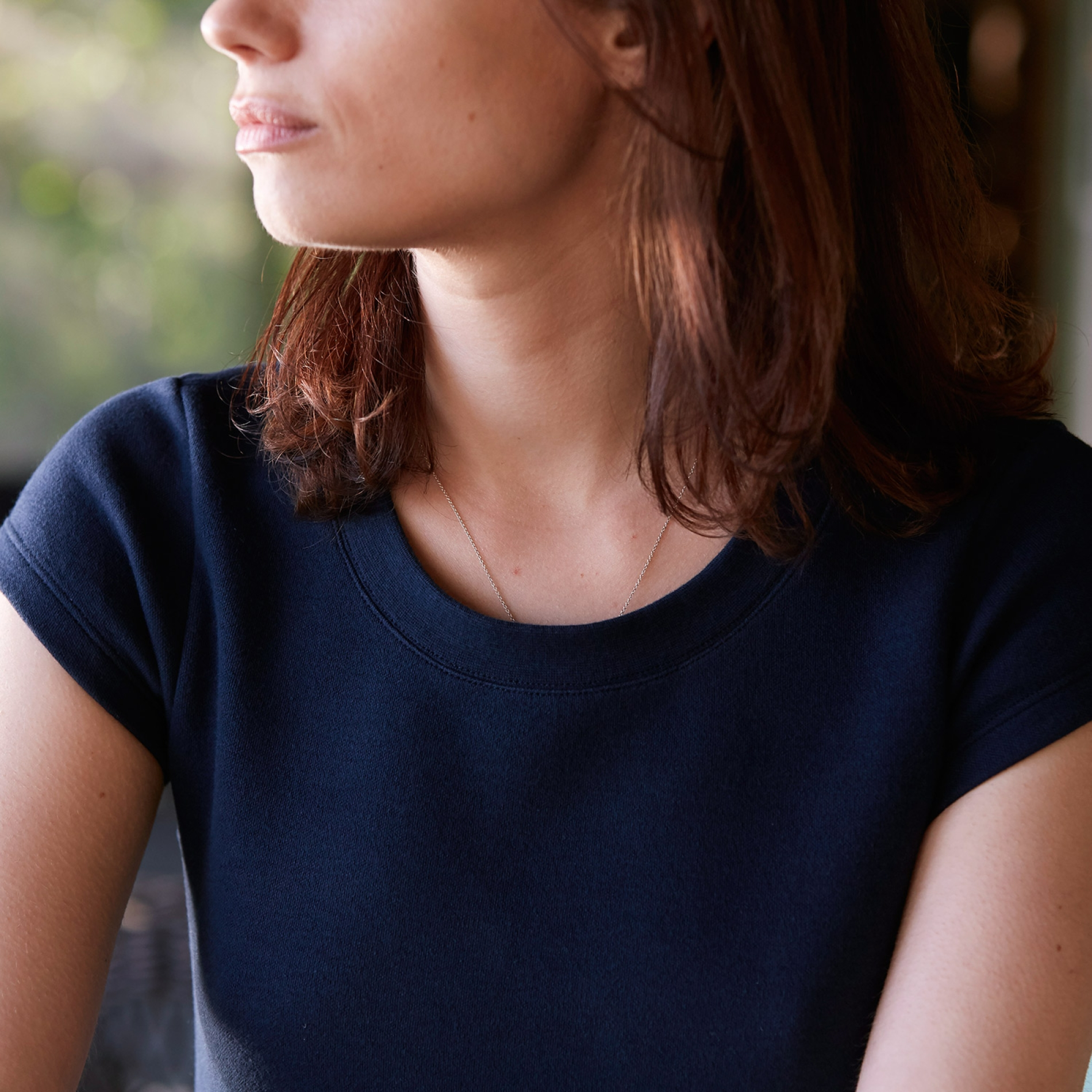 Women's Sweatshirt Dress Navy