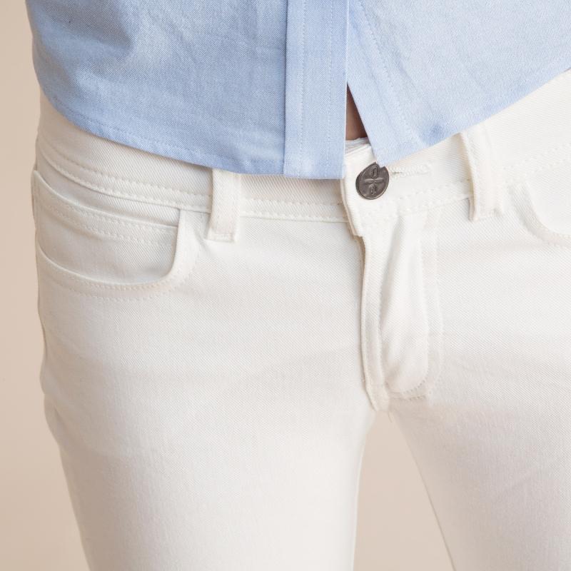 Made in USA White Skinny Jean