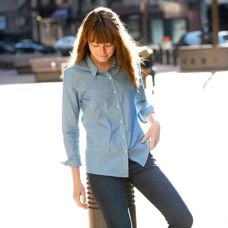 Women's Chambray Blue Shirt