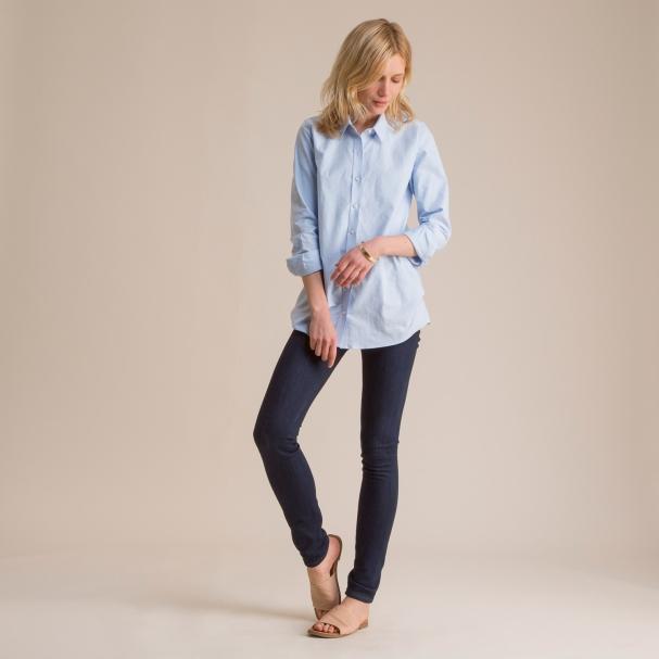Women's Blue Oxford Shirt