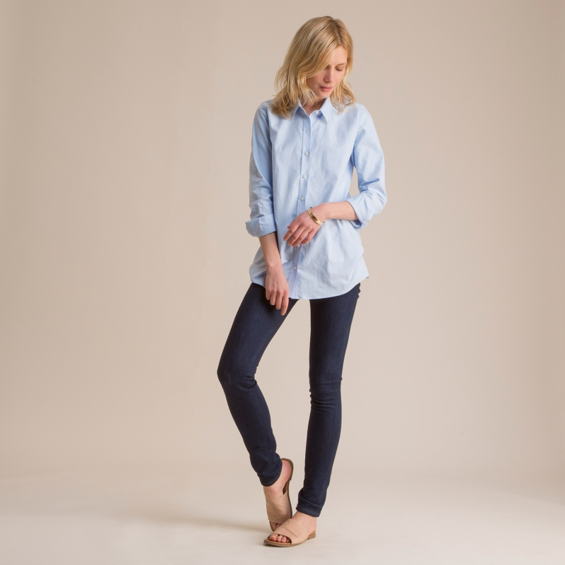 Women's Blue Oxford Shirt