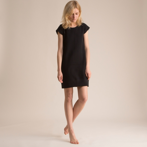 Sweatshirt Dress Black