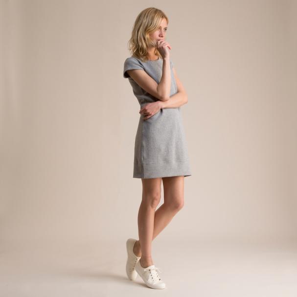 Sweatshirt Dress Heather Grey